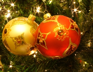 Xmas ornaments organge yellow Kris de Curtis WC CC